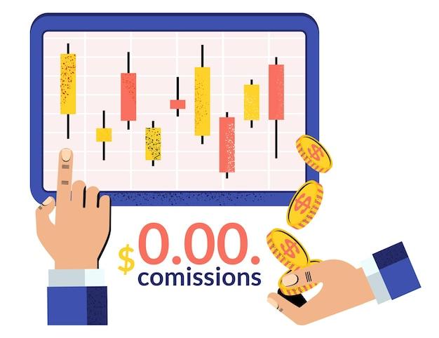 Japanese candlestick chart. online trading. financial market