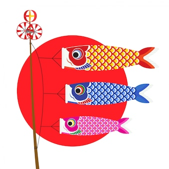 일본 잉어 배너