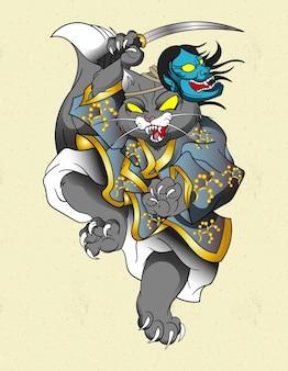 일본 고양이 사무라이