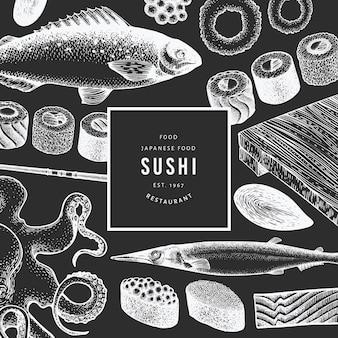 日本料理のテンプレート