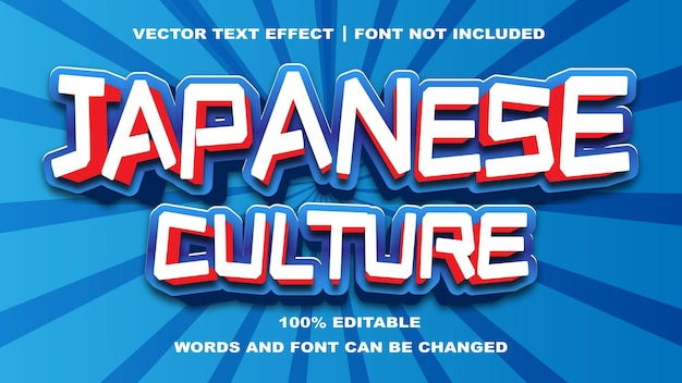 Japanese culture style editable text effect