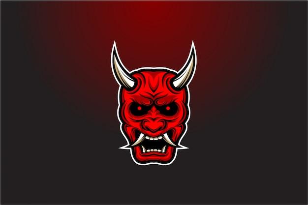 日本の悪魔のマスクの図