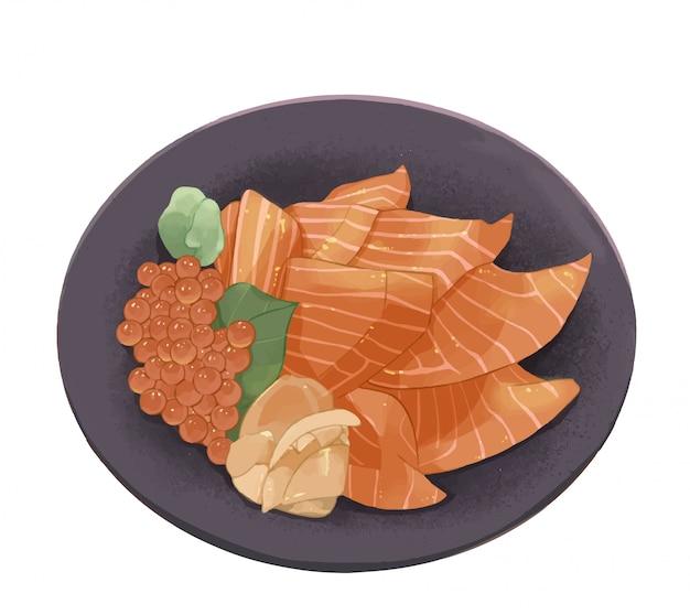 Japanese diet drawn