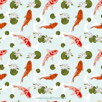 Japanese fish pattern