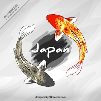 Japanese fishes background