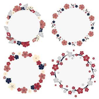 Japanese flowers frame