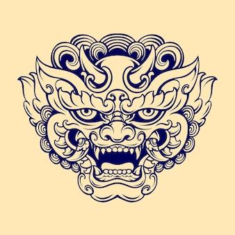 日本のfoo犬マスク