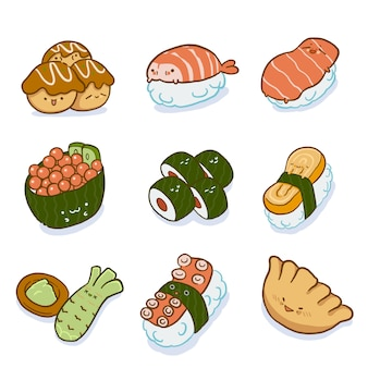 Japanese food character set