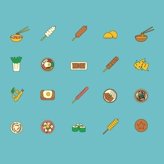 Японская коллекция еды иконки