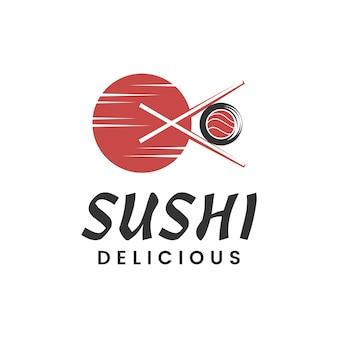 Шаблон логотипа суши-ресторана японской кухни