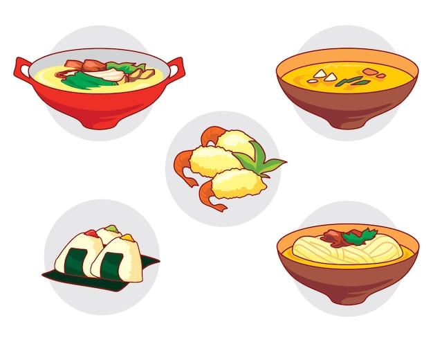Japanese food vecto set