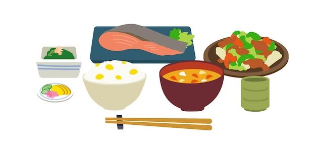 Японская еда. векторные иллюстрации, которые легко редактировать.