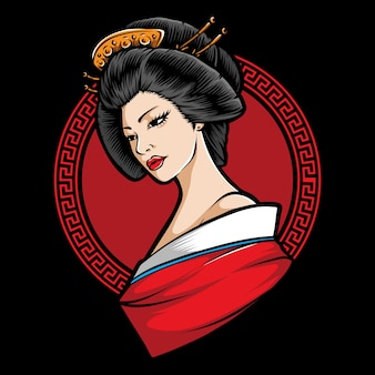 Japanese  geisha character
