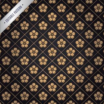 Japanese gold flower pattern