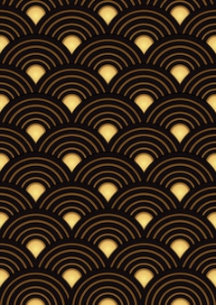 Japanese gold pattern design