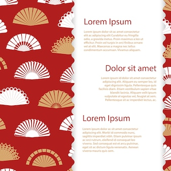 Japanese hand fan background template