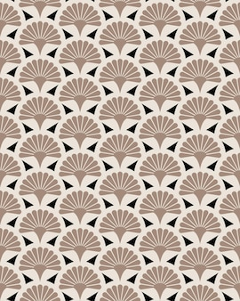 Japanese handheld fan floral vector seamless pattern. japan blossom garden texture design.