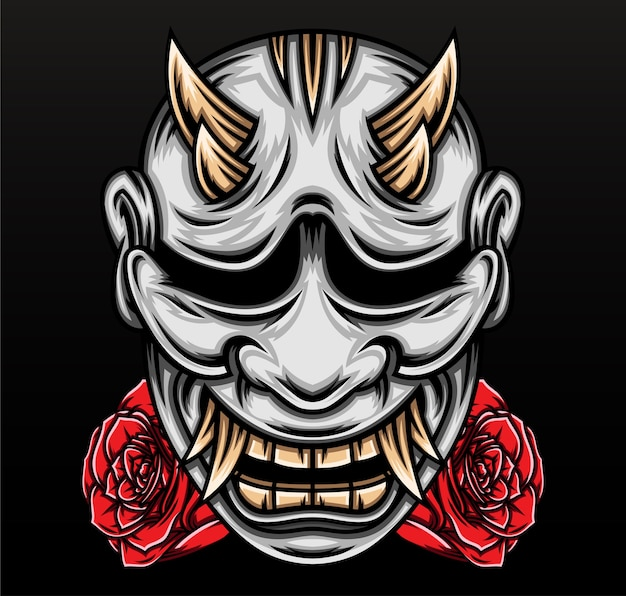 Japanese hannya mask.