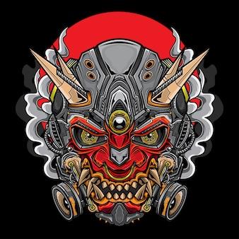 Japanese hannya oni mask