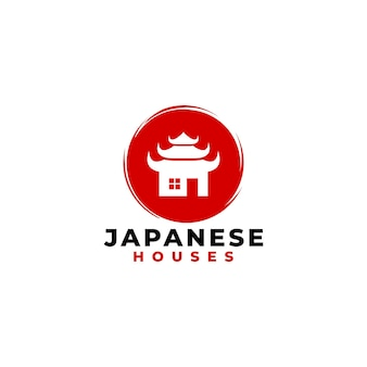 Japanese house logo for real estate business company.
