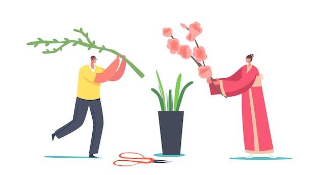 日本の生け花のコンセプト