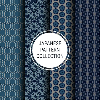 Japanese indigo pattern collection