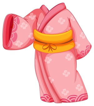 Kimono giapponese isolato su sfondo bianco
