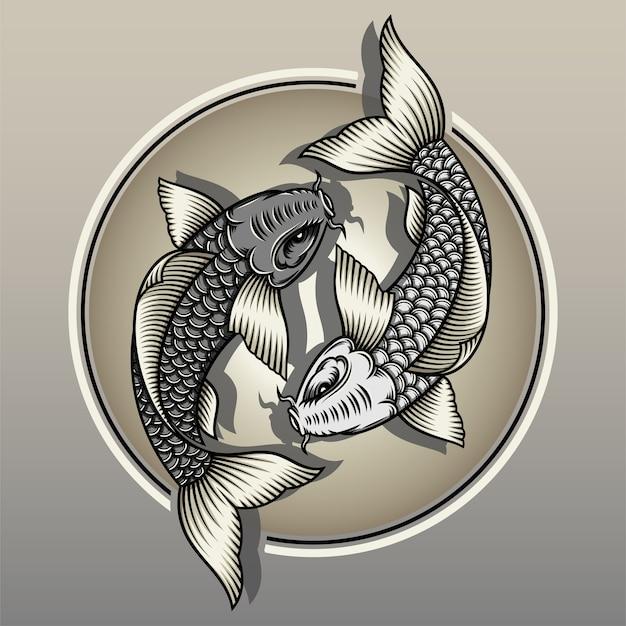 Японская рыба кои