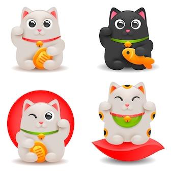 日本の幸運な猫