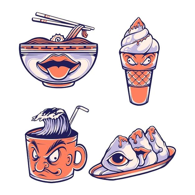 Японский персонаж маски