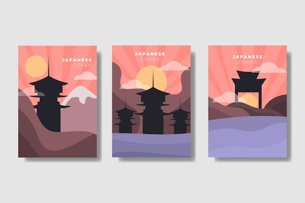 Japanese minimalist cover set