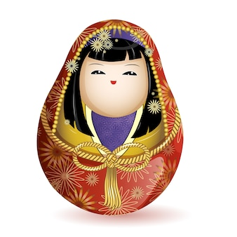 Japanese national wooden doll
