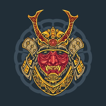Japanese oni warrior t-shirt design