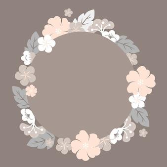 Japanese pastel flowers frame