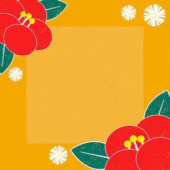 Японский узор и значок вектор восточные приглашения и рамка фон