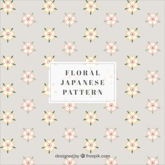Modello giapponese con fiori
