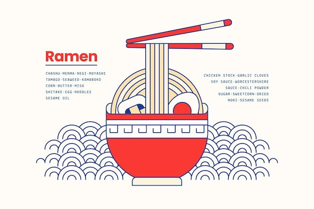 ボウルのバックグラウンドで日本のラーメンスープ料理