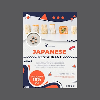 Japanese restaurant flyer template