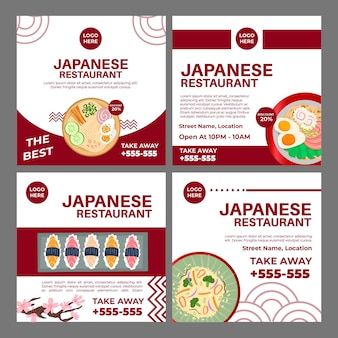Japanese restaurant instagram post