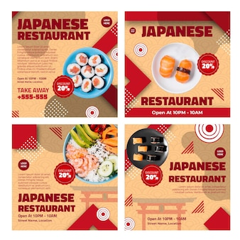 Post su instagram di ristoranti giapponesi