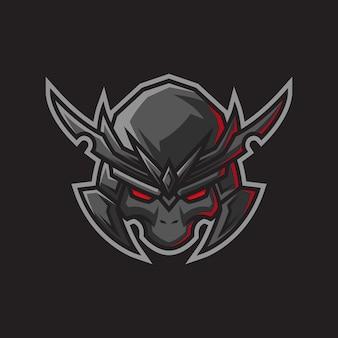 Japanese samurai or boshido character logo illustration
