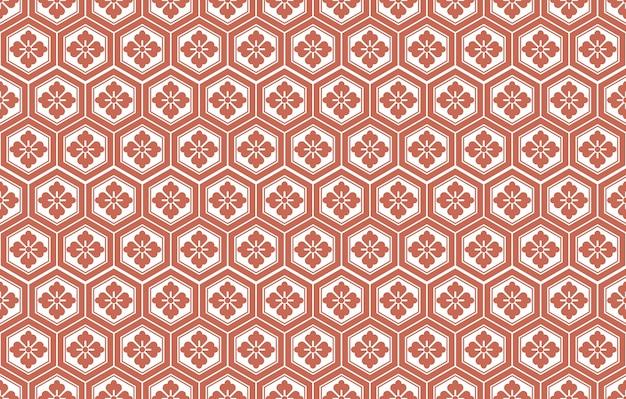 일본 원활한 벡터 빈티지 패턴