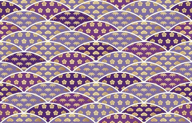 日本のシームレスなベクトルのビンテージパターン