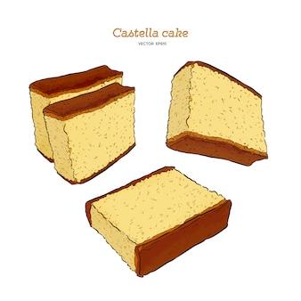 日本のスポンジケーキ