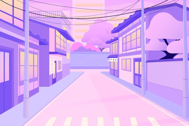 Strade giapponesi con case moderne
