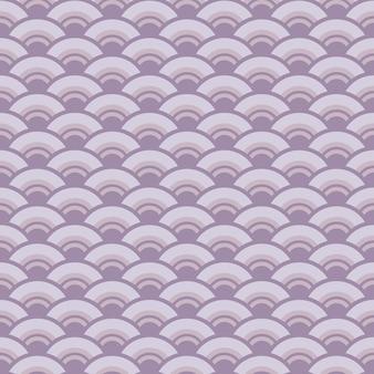 Japanese style retro vintage seamless pattern curve wave