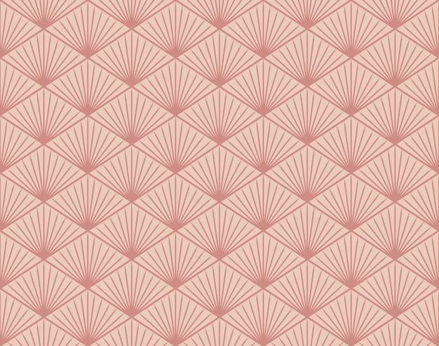和風レトロヴィンテージシームレスパターン幾何学ポリゴンライン