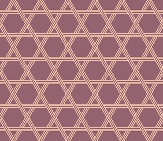 Японский стиль ретро винтаж бесшовные модели многоугольника звездная линия