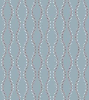 Японский стиль ретро винтаж бесшовные модели волна пунктирная линия