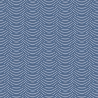 Японский стиль ретро винтаж бесшовные модели волны линии